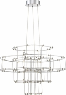 Quoizel PCLY2824C Platinum Collection Labyrinth Modern Polished Chrome LED Ceiling Chandelier