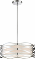 Quoizel PCMC2820C Platinum Collection Mystic Modern Polished Chrome 20  Drum Drop Ceiling Light Fixture