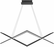 Quoizel PCNEW136MBK Newman Contemporary Matte Black LED Kitchen Island Light Fixture