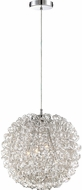 Quoizel PCPG2816C Platinum Collection Pageant Contemporary Polished Chrome Xenon 16  Drum Pendant Lighting