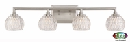 Quoizel PCSA8604BNLED Platinum Collection Serena Contemporary Brushed Nickel LED 4-Light Vanity Light Fixture