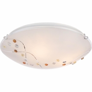 Quoizel PCSL1616C Platinum Collection Stellar Modern Polished Chrome Finish 4.5  Tall Flush Ceiling Light Fixture