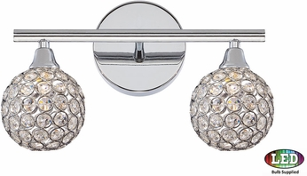 Quoizel Pcsr8602cled Platinum Collection Shimmer Polished Chrome Led 2 Light Vanity Lighting Fixture