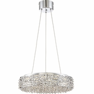 Quoizel PCST1818C Platinum Collection Starlet Polished Chrome LED Drum Pendant Lighting Fixture