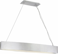 Quoizel PCSV142BRA Platinum Collection Silver Edge Contemporary Brushed Aluminum LED Kitchen Island Light Fixture