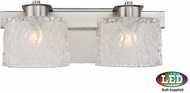Quoizel PCSW8602BNLED Platinum Collection Seaview Contemporary Brushed Nickel LED 2-Light Bathroom Light Sconce