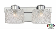 Quoizel PCSW8602CLED Platinum Collection Seaview Contemporary Polished Chrome LED 2-Light Bathroom Sconce Lighting