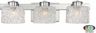 Quoizel PCSW8603CLED Platinum Collection Seaview Contemporary Polished Chrome LED 3-Light Lighting For Bathroom