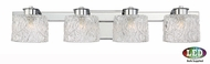 Quoizel PCSW8604CLED Platinum Collection Seaview Contemporary Polished Chrome LED 4-Light Vanity Lighting