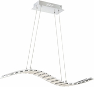 Quoizel PCWV140C Platinum Collection Wave Contemporary Polished Chrome LED Kitchen Island Lighting
