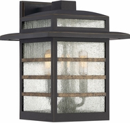 Quoizel PLA8410PN Plaza Contemporary Palladian Bronze Outdoor 10.25 Wall Mounted Lamp