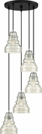 Quoizel PPY2705EK Prophecy Modern Earth Black Multi Drop Ceiling Lighting