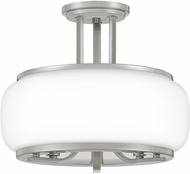 Quoizel PRUO1714BN Pruitt Contemporary Brushed Nickel Flush Mount Lighting Fixture