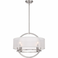 Quoizel PTD2820BN Portland Brushed Nickel Finish 20  Wide Ceiling Light Pendant