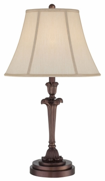 Quoizel Q1072TPN Portable Flared Base Bronze Traditional Table Lamp