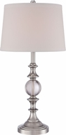 Quoizel Q1634TBN Brushed Nickel Side Table Lamp