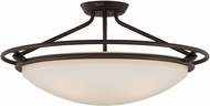 Quoizel QF1201SWT Western Bronze 25  Flush Mount Lighting