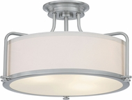 Quoizel QF1715BN Calvary Contemporary Brushed Nickel Flush Mount Light Fixture