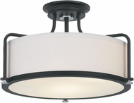 Quoizel QF1715EK Calvary Contemporary Earth Black Flush Mount Lighting Fixture