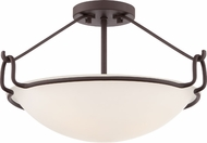 Quoizel QF1834WT Western Bronze Ceiling Lighting Fixture