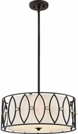 Quoizel QF2773K Mystic Black Drum Hanging Pendant Light