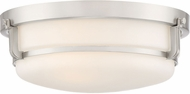 Quoizel QF3411BN Contemporary Brushed Nickel Flush Mount Ceiling Light Fixture