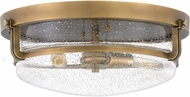 Quoizel QF3411WS Outpost Modern Weathered Brass Flush Ceiling Light Fixture