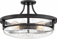 Quoizel QF3419PN Outpost Contemporary Palladian Bronze Flush Mount Ceiling Light Fixture