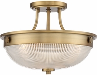 Quoizel QF3631WS Modern Weathered Brass Flush Mount Ceiling Light Fixture