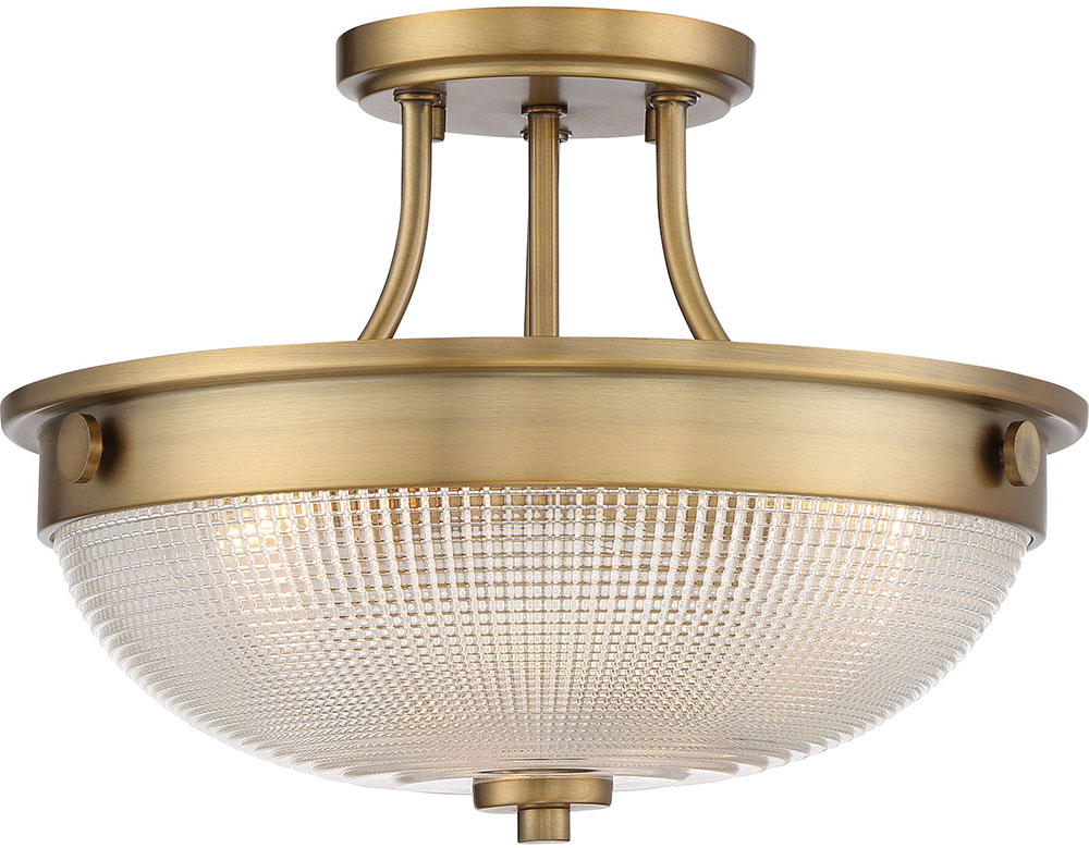 Quoizel Qf3631ws Modern Weathered Brass Flush Mount
