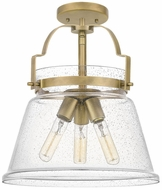 Quoizel QF5113WS Wimberly Contemporary Weathered Brass Flush Mount Lighting