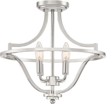 Quoizel QF5119PK Harvel Contemporary Polished Nickel Overhead Lighting