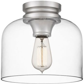 Quoizel QF5121BN Bethany Modern Brushed Nickel Flush Ceiling Light Fixture