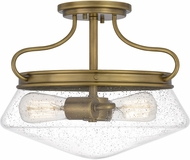 Quoizel QF5222WS Tucker Weathered Brass Ceiling Lighting Fixture