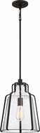 Quoizel QF5228RK Haverford Rustic Black Mini Hanging Pendant Light