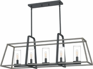 Quoizel QF5277DO Modern Distressed Iron Kitchen Island Lighting
