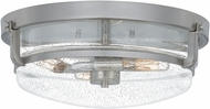 Quoizel QF5282BN Modern Brushed Nickel Flush Mount Ceiling Light Fixture