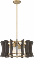 Quoizel QOP5196AB Cordelia Aged Brass Drum Pendant Hanging Light