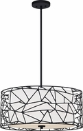 Quoizel QOP5274MBK Matte Black Drum Drop Lighting