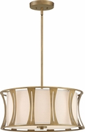 Quoizel QP5187EY Woodmere Egyptian Gold Drum Drop Ceiling Lighting