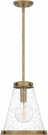 Quoizel QP5260WS Contemporary Weathered Brass Mini Ceiling Pendant Light