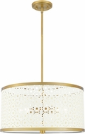 Quoizel QP5262AB Modern Aged Brass Drum Drop Ceiling Light Fixture