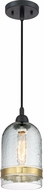 Quoizel QPP2789K Piccolo Contemporary Mystic Black Mini Pendant Light