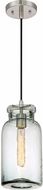 Quoizel QPP2816BN Piccolo Contemporary Brushed Nickel Mini Pendant Lamp
