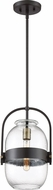 Quoizel QPP3401WT Piccolo Contemporary Western Bronze Mini Hanging Pendant Light