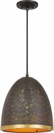 Quoizel QPP4024WT Delavan Contemporary Western Bronze Mini Hanging Pendant Light