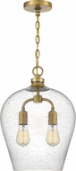 Quoizel QPP4028WS Snowville Modern Weathered Brass Pendant Hanging Light
