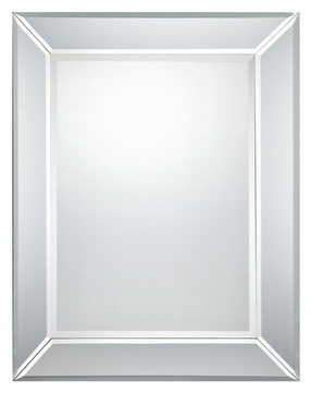 Quoizel QR1416 32 Inch Tall Transitional Style Beveled Mirror