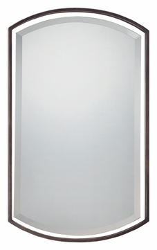 Quoizel QR1419PN Palladian Bronze Finish 35 Inch Tall Arched Mirror