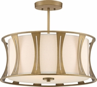 Quoizel QSF5187EY Woodmere Egyptian Gold Flush Mount Lighting Fixture